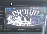 Crown Black Car
